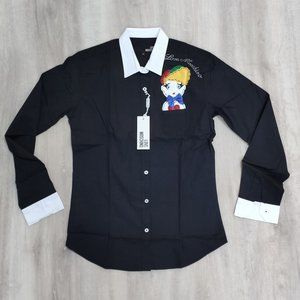 Love Moschino Women Slim Fit Button Down Shirt
